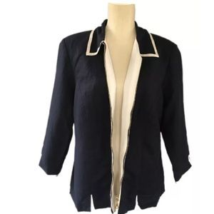 Jessica Howard Woman  Sz 14 Jacket Dark Blue White